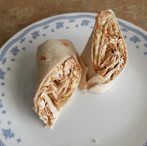 Picture of peanut butter banana wrap