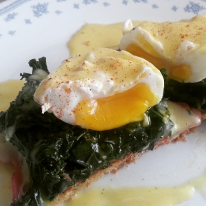 Picture of Eggs Benedict with Kale
