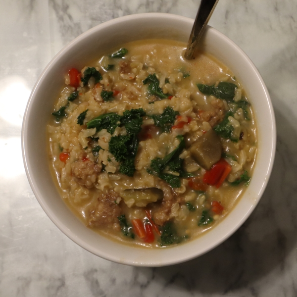 picture of sausage and kale stew